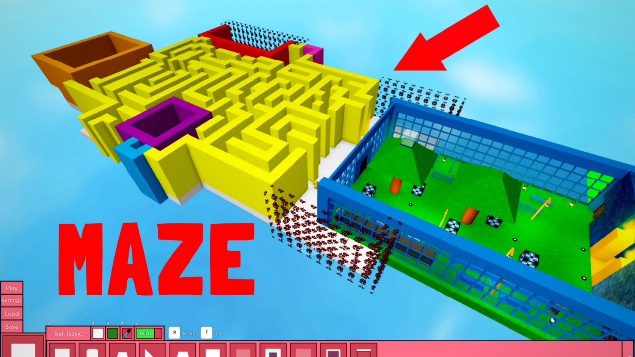 MAZE !! ROBLOX PIGGY BUILD MODE 로블록스 피기 빌드 모드 미로맵