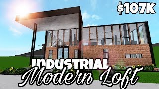 Industrial Modern Loft (107k) | Bloxburg Speed Build | Roblox