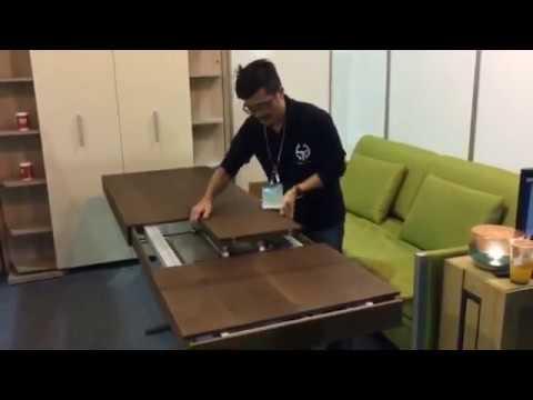 hideaway kitchen table green cabinets 隱藏式掀床 壁床 機能型家具 茶几變餐桌 youtube