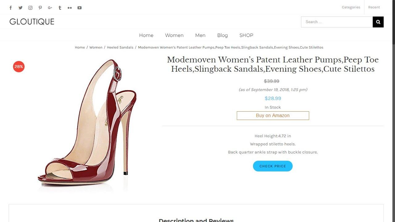 e9149519b614 Modemoven Women s Patent Leather Pumps