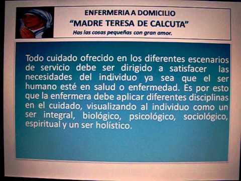 Enfermeria A Domicilio Madre Teresa De Calcuta Youtube