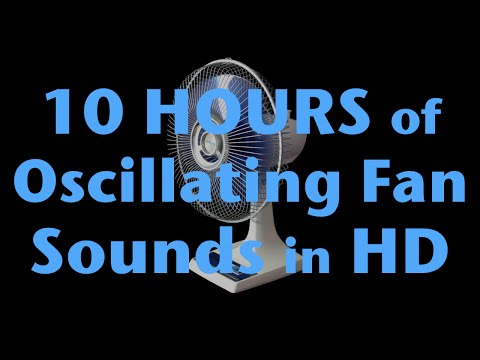 10 Hours of Oscillating Fan Sound HD White Noise for Sleep