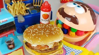 Play-doh Dentista and Baby doll food kitchen toys McDonald