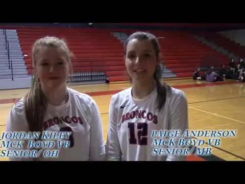 Boyd Seniors Jordan Kiley/Paige Anderson talk about their outstanding senior season & the playoffs