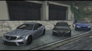 GTA V | MERCEDES C63  VS. BMW M4 VS. AUDI RS5 | GTA 5 MOD