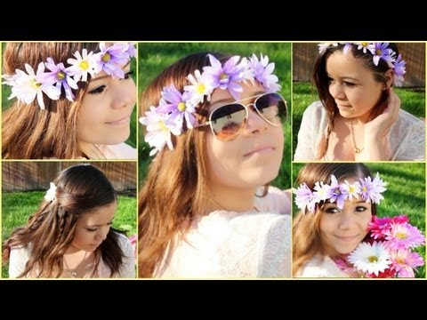 3 cute&easy spring hairstyles diy