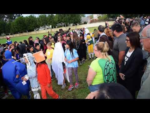 Eastshore Elementary School 2017 Halloween Parade Irvine CA