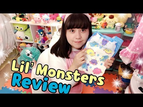 Rearz Lil' Monsters Adult Diaper Review (+Ink Transfer Test)