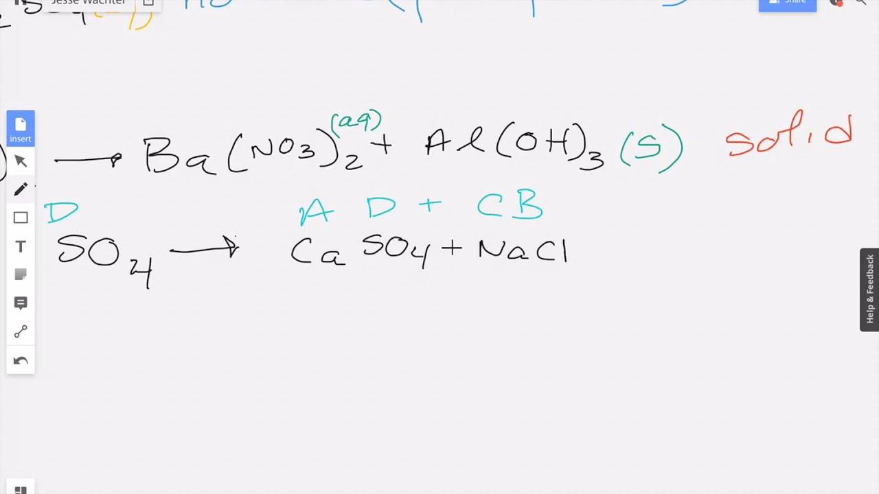 Complete the reaction and determine if a precipitate forms 3 - YouTube