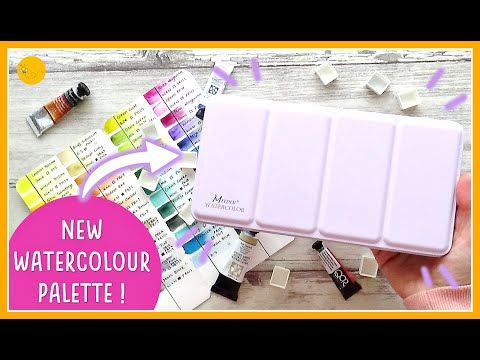 Setting up my CUSTOM WATERCOLOUR PALETTE | Which brands? Which colours? Let's swatch them out!
