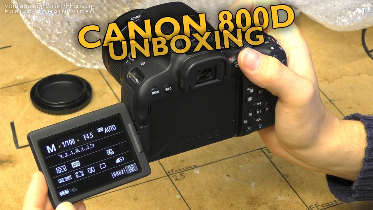 Canon 800D unboxing & first look (It's not bad!)