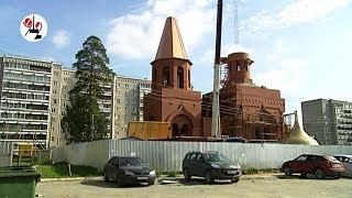 """Купола и кресты установили на """"родительский"""" храм. Real video"""