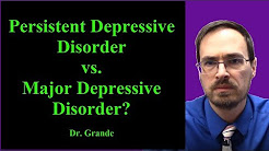What is the difference between Persistent Depressive Disorder and Major Depressive Disorder?