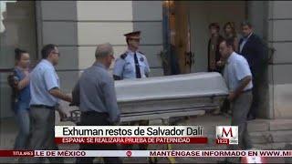 Exhuman los restos de Salvador Dalí