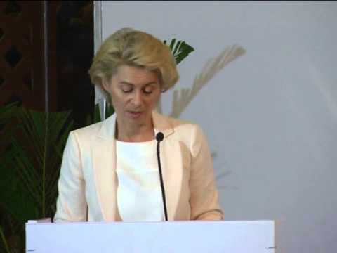 German Defence Minister invites India to join hands in fighting militancy