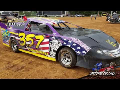 #357 Micky Crowden - Mini Stock - 7-14-18 North Alabama Speedway - In Car Camera