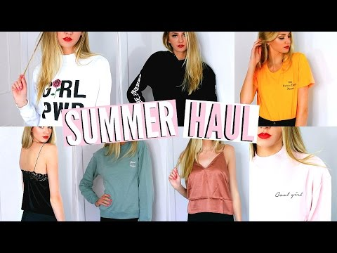 TRY ON CLOTHING HAUL | Summer 2017