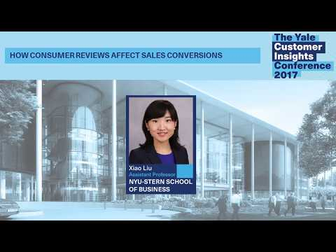 Xiao Liu, NYU Stern: How Consumer Reviews Affect Sales Conve
