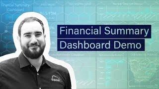 Financial Summary Dashboard Demo