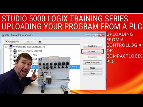 Upload PLC program