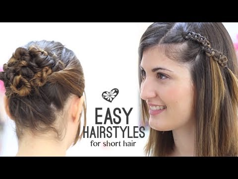 Easy Hairstyles For Short Hair Party Jordan : EASY HAIRSTYLES SHORT HAIR - YouTube