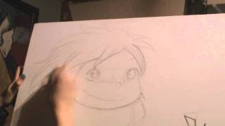 Short Preview Drawing Ponyo/  Corto Preview Dibujando Ponyo