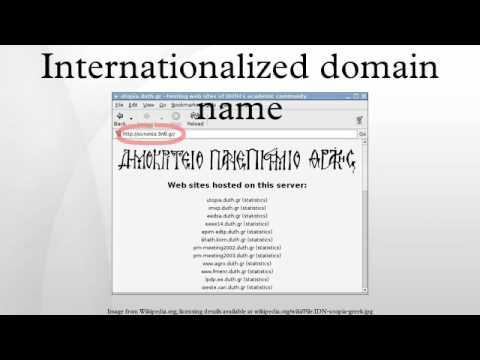 Internationalized domain name