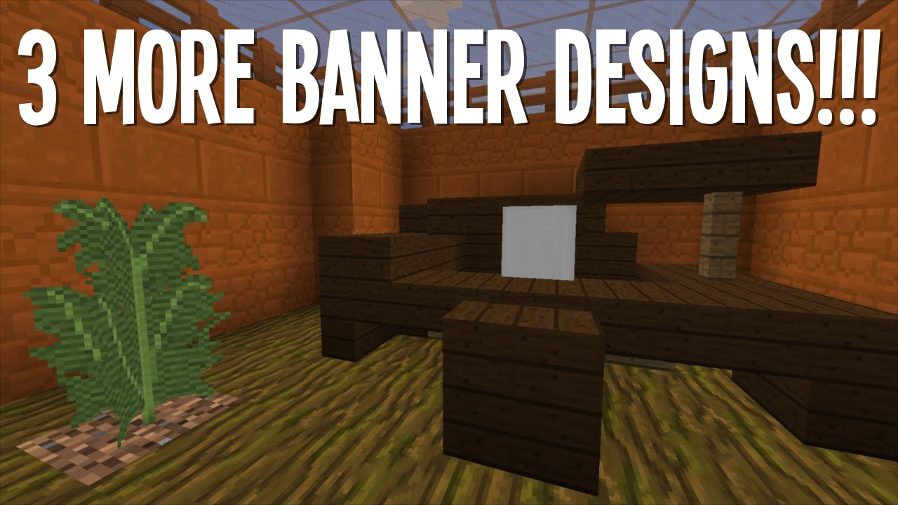 3 Cool Banner Designs 2 Minecraft Youtube