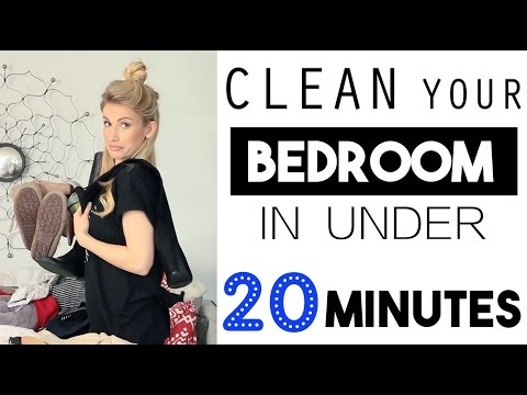 ORGANIZE: Clean Your Bedroom In LESS Than 20 Minutes!