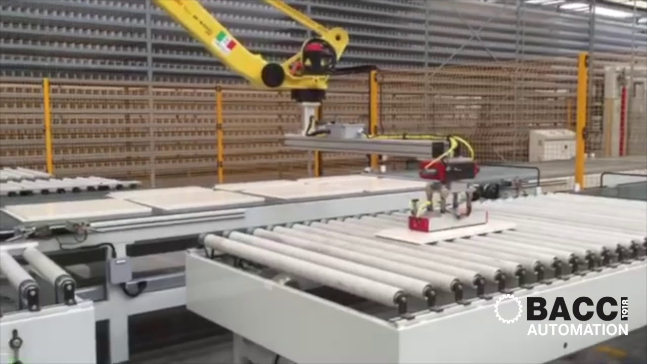 BACCI AUTOMATION - Lacquering line tending with Vision system