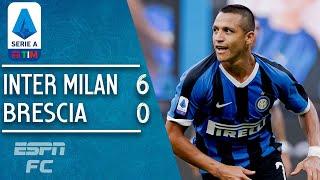 Inter Milan 6-0 Brescia: Alexis Sanchez Scores In Inter's Demolition | Serie A Highlights