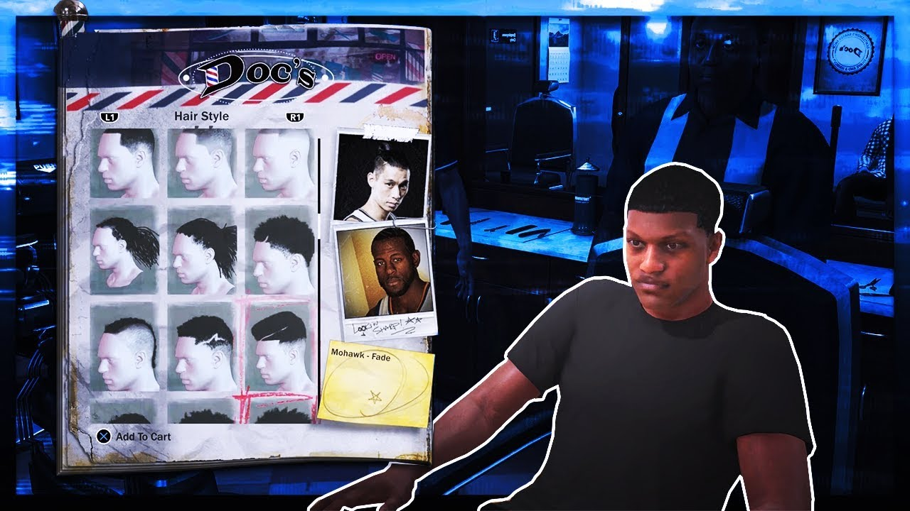 Every Hairstyle In Nba 2k18 New Haircuts Barbershop Youtube