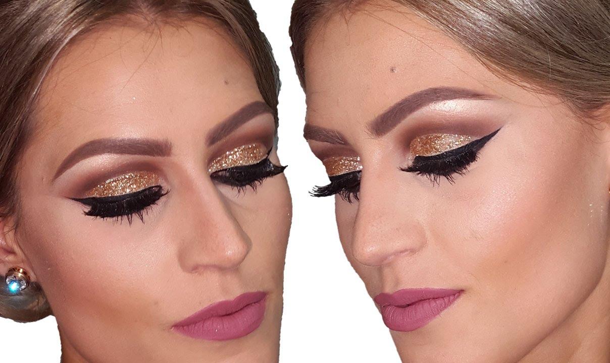 Maquiagem Com Glitter Para Festas Por B 225 Rbara Thais Youtube