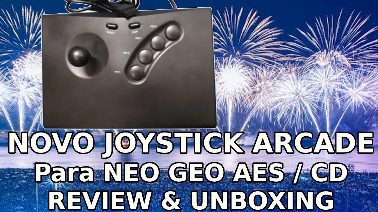 Novo Joystick Arcade: NEO GEO AES / CD da AliExpress - UNBOXING e REVIEW