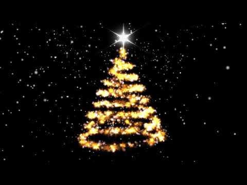 Новогодняя елка на черном фоне