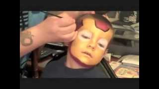 Repeat youtube video Iron Man Face Painting | Marvelous Masks Chicago Face Painter