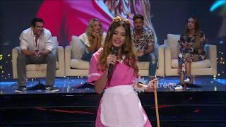 Una joven alegró la noche de Flor Vigna cantando como Simona