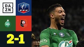 Last-Minute-Wahnsinn inklusive Platzsturm: St.Etienne – Rennes 2:1 | Coupe de France | DAZN