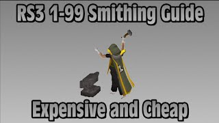 RS3: 1-99 Smithing Guide (Cheap/Fast/AFKable Methods) - RuneScape
