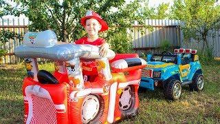 Щенячий патруль Спасает машину Видео для детей Игрушки Щенячий патруль outdoor playground for kids