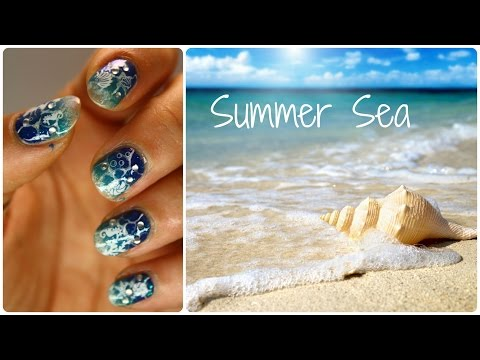 .: BTS :. Summer Sea - Tutorial Nail Art (BornPrettyStore)