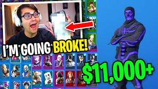 How I spent over $10,000 on my Fortnite Account for skins... (not clickbait)