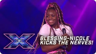 Blessing-Nicole kicks the nerves!  | X Factor: The Band | Arena Auditions