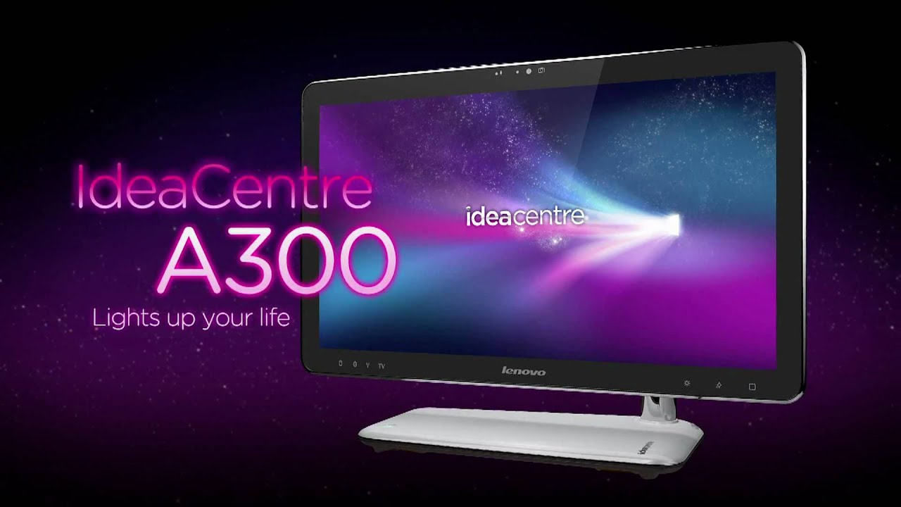 lenovo ideacentre a300 all in one pc youtube. Black Bedroom Furniture Sets. Home Design Ideas