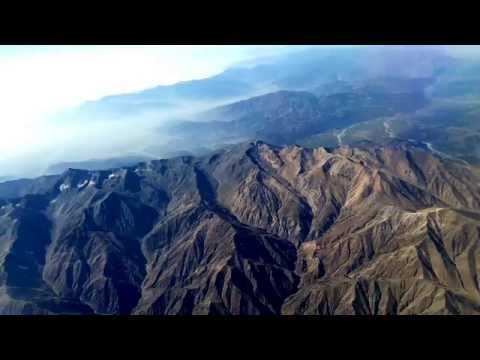 Hindu Kush Mountains aerial view near Kabul