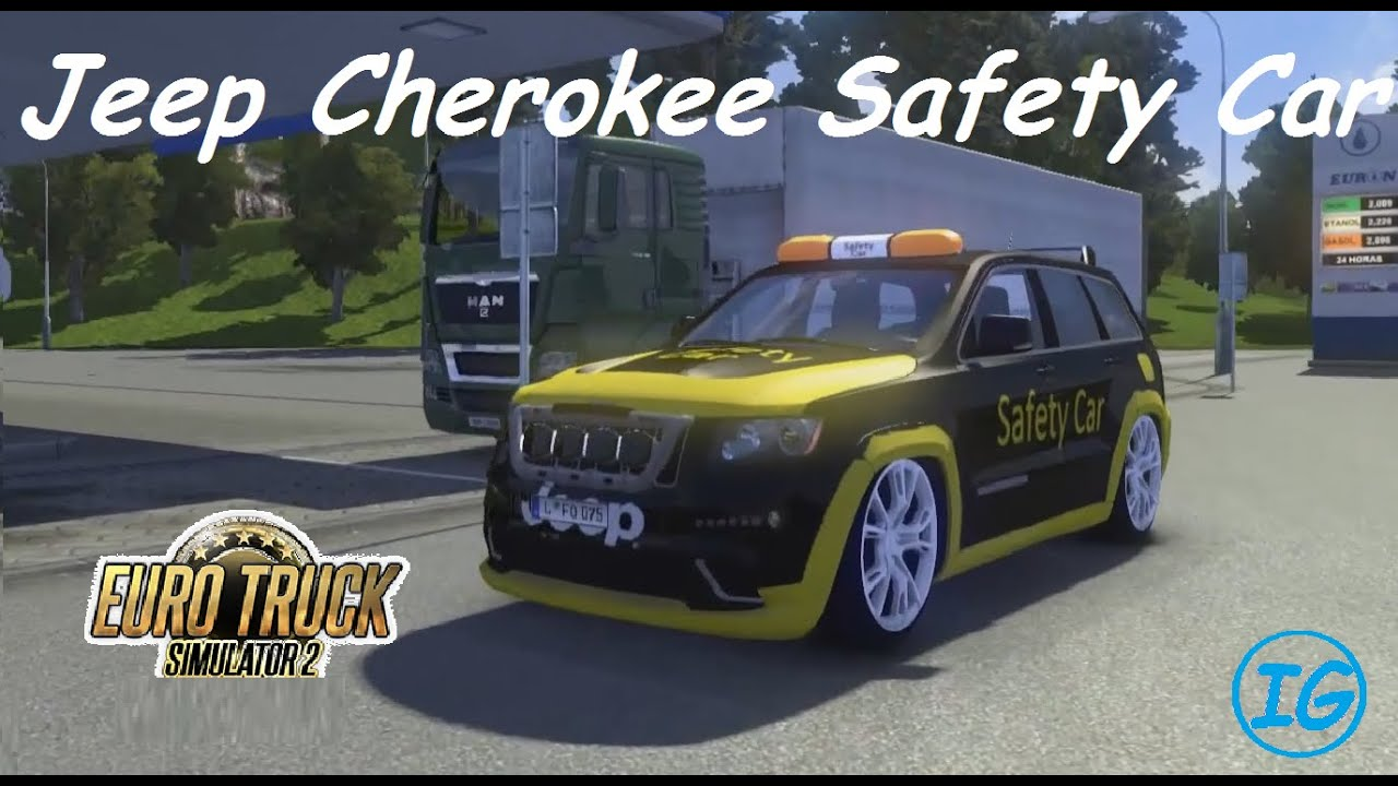 Euro Truck Simulator 2 Jeep Cherokee Safety Car Download Youtube