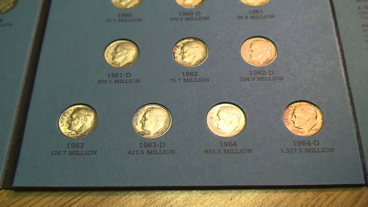 1946-1964 Silver Roosevelt Dime Complete Collection**48 coins in Whitman Folder