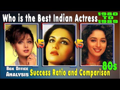 Sridevi Vs Madhuri Dixit Vs Reena Roy 1980-1989 Box Office, Hit and Flop, Success Ratio, Comparison.