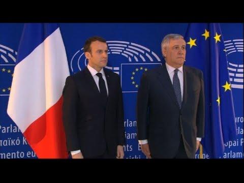 Macron in Strasbourg for speech on EU reforms