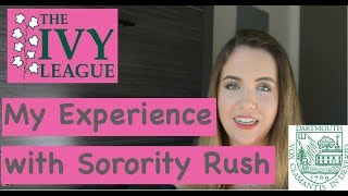 Sorority Rush at DARTMOUTH COLLEGE - How it works + My Experience